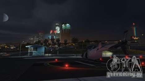 Еще одно место расположения вертолёта в GTA Online