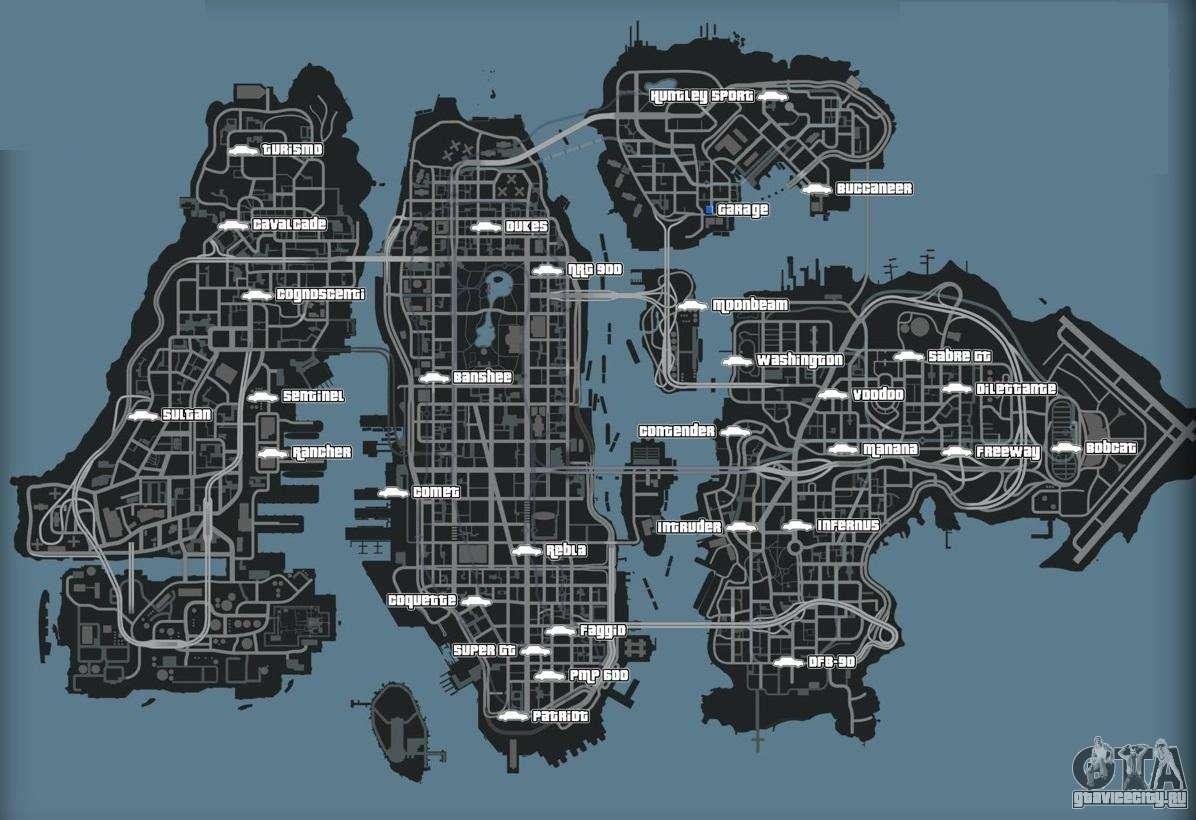 Карта GTA 4 - GTA-NOW Ru