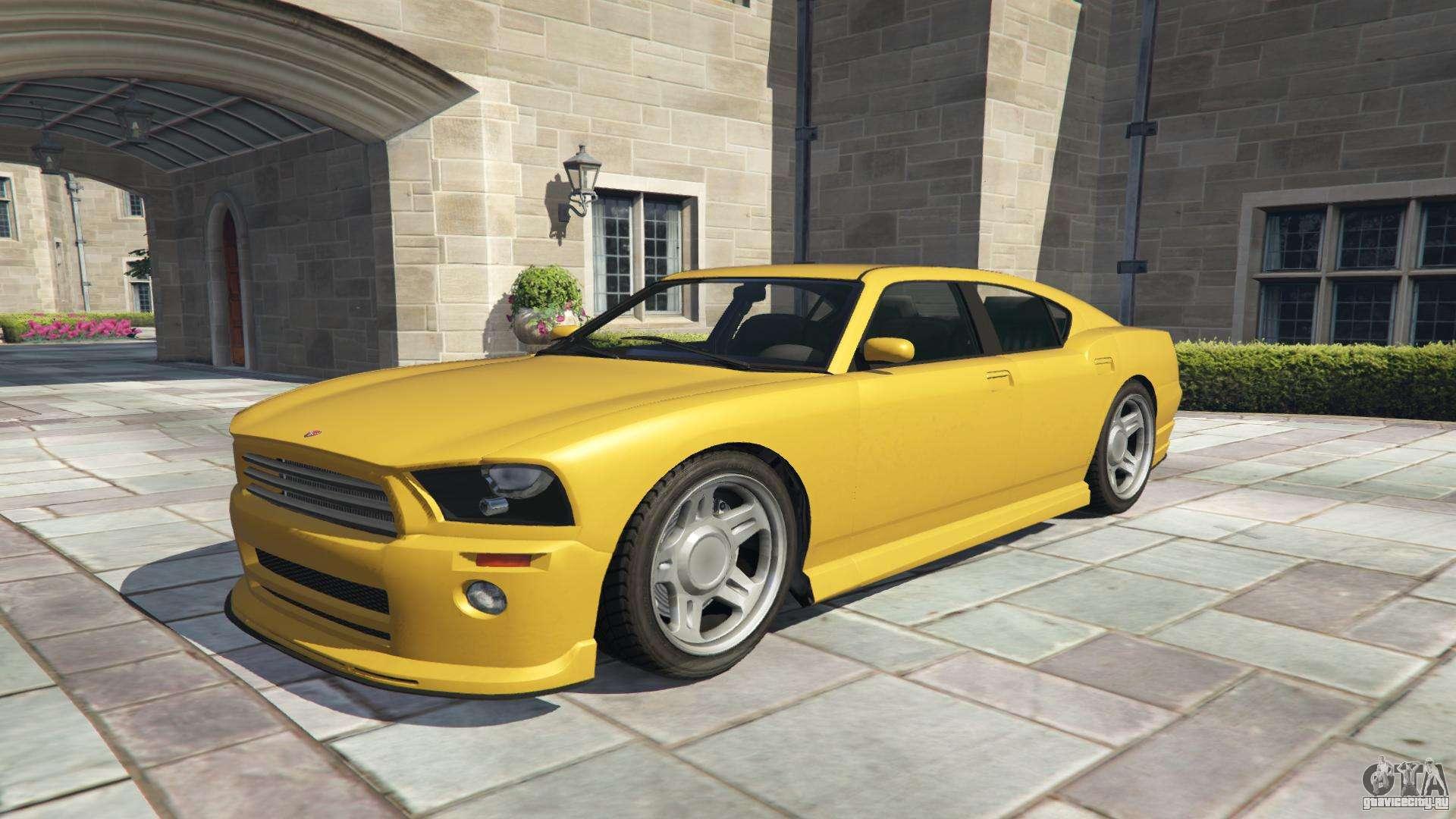Bravado Buffalo из GTA 5 - вид спереди