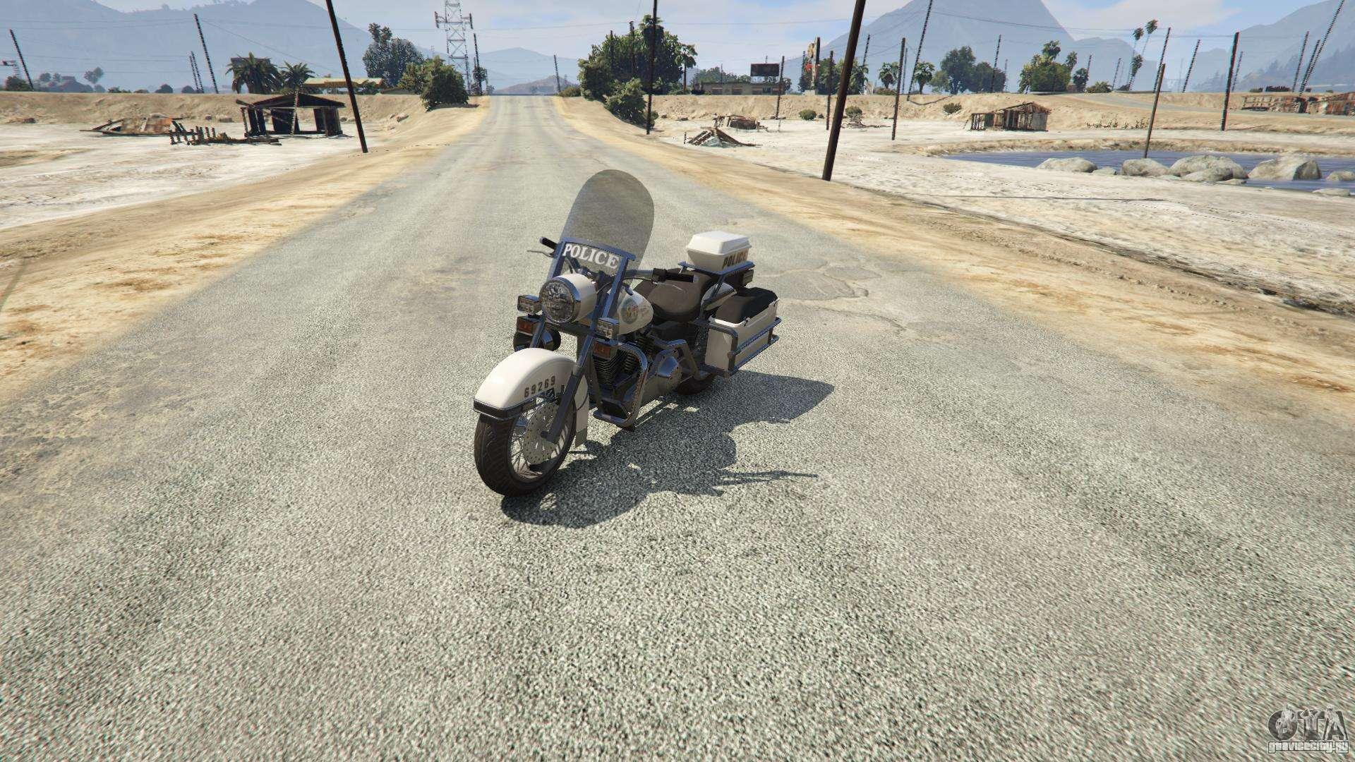 Полицейский мотоцикл из GTA 5 - вид спереди