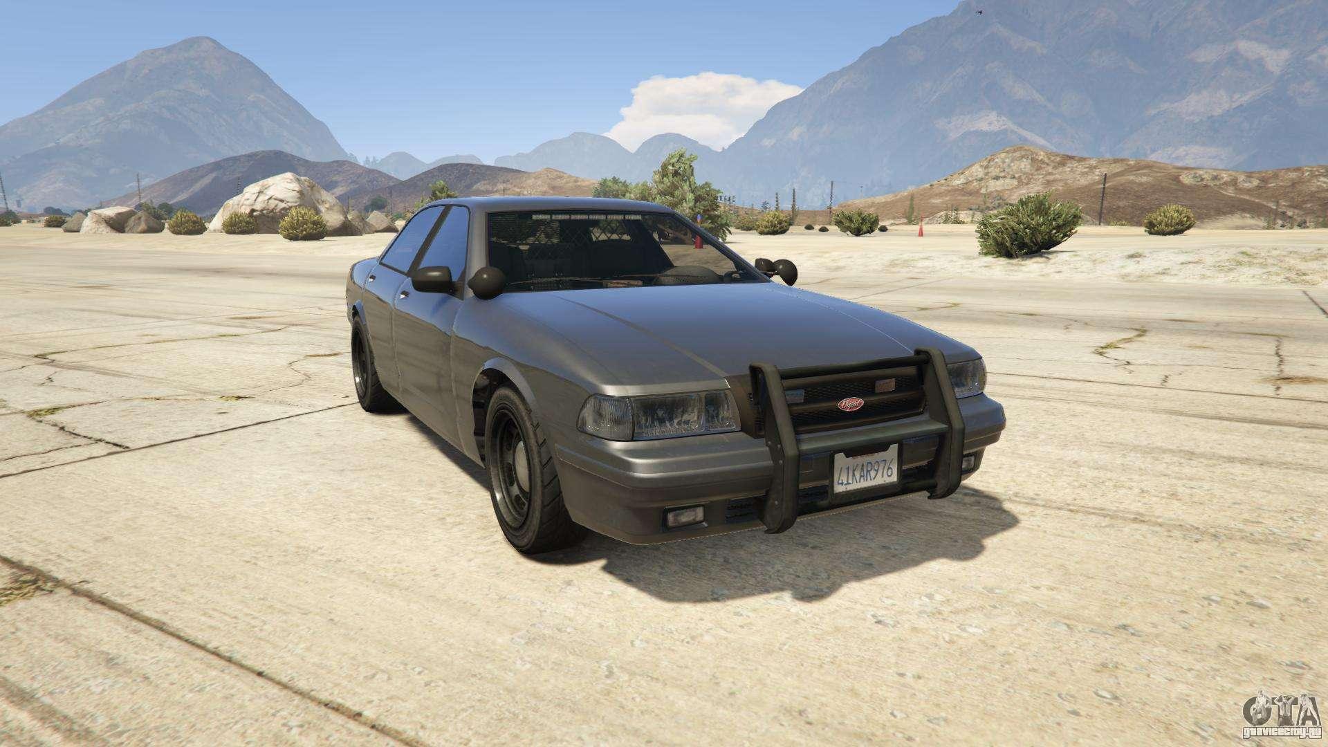 GTA 5 Vapid Unmarked Cruiser - вид спереди