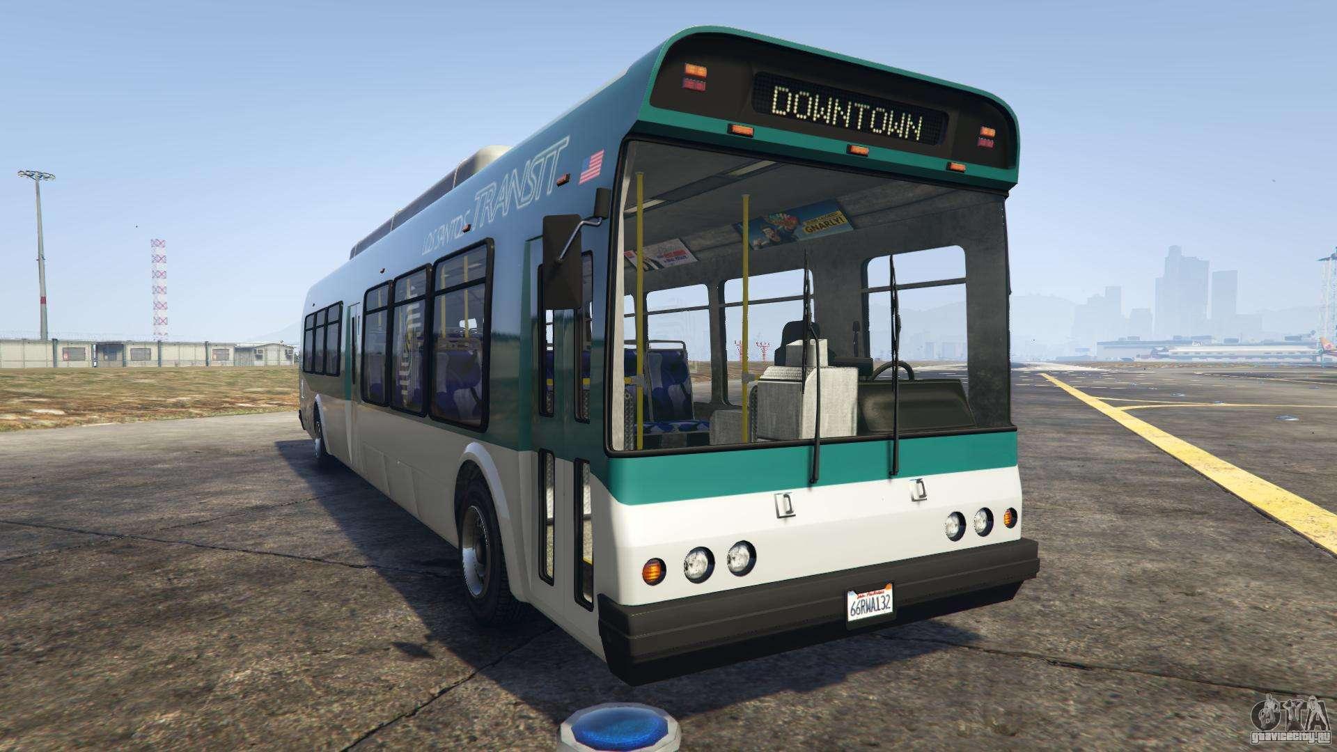 GTA 5 Brute Bus - вид спереди