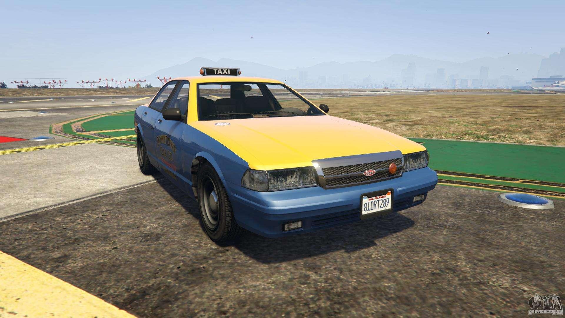GTA 5 Vapid Taxi - вид спереди