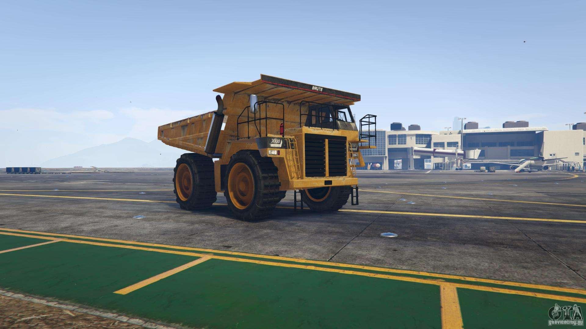 GTA 5 HVY Dump - вид спереди