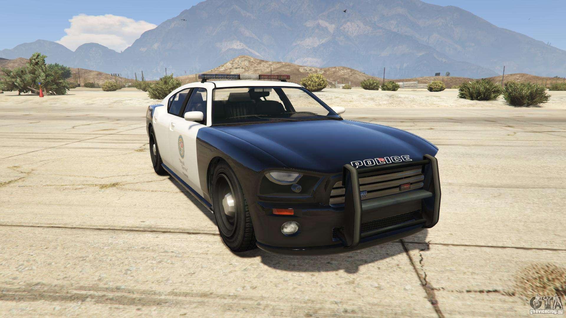 GTA 5 Bravado Police Buffalo - вид спереди