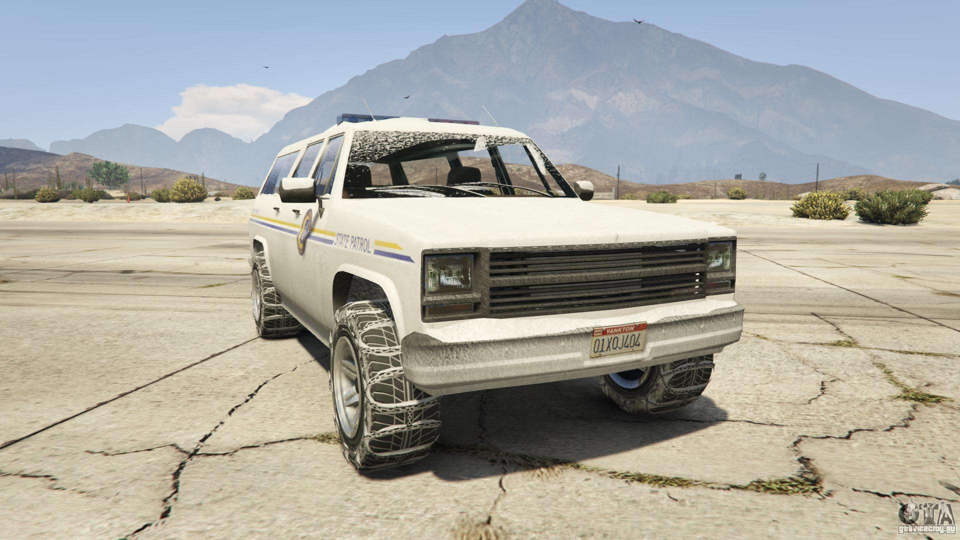 GTA 5 Declasse Police Rancher - вид спереди