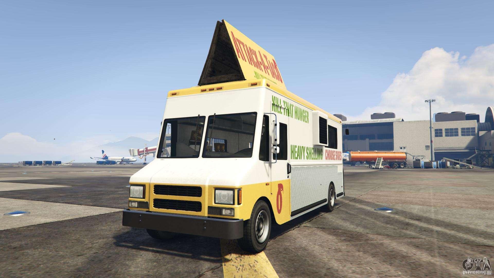GTA 5 Brute Taco Van - вид спереди