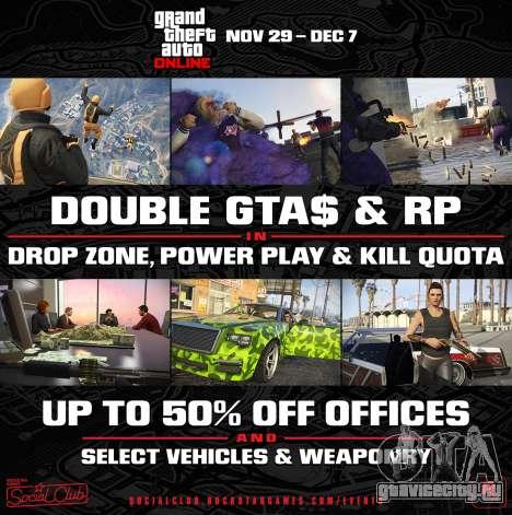 Обновление редактора и двойные бонусы в GTA Online