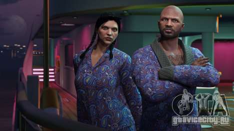 GTA Online: Синий жакет и пижама