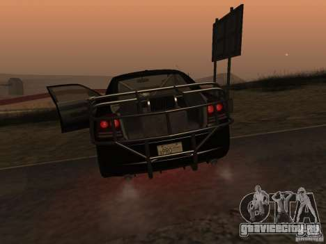 Dodge Charger Fast Five для GTA San Andreas вид сзади