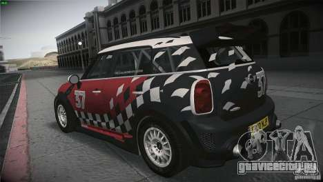 Mini Countryman WRC для GTA San Andreas вид сзади слева