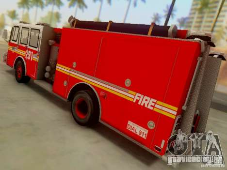 E-One FDNY Ladder 291 для GTA San Andreas вид слева