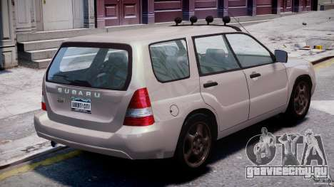 Subaru Forester v2.0 для GTA 4 вид сверху