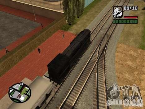 Поезд combine из игры Half-Life 2 для GTA San Andreas вид изнутри