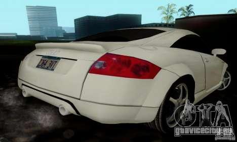 Audi TT для GTA San Andreas вид сзади