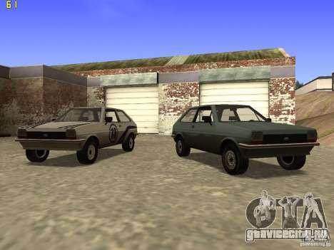Ford Fiesta 1981 для GTA San Andreas вид сзади