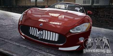 Maserati Gran Turismo 2008 Beta для GTA 4 вид сзади слева