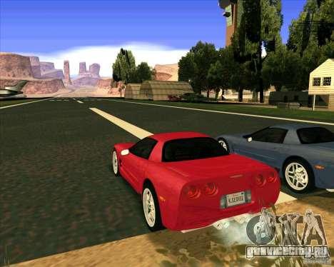 Chevrolet Corvette C5 z06 для GTA San Andreas вид слева