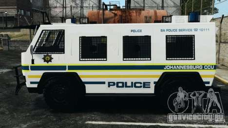 RG-12 Nyala - South African Police Service для GTA 4 вид слева