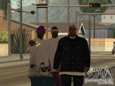 Новые скины Баллас для GTA San Andreas второй скриншот
