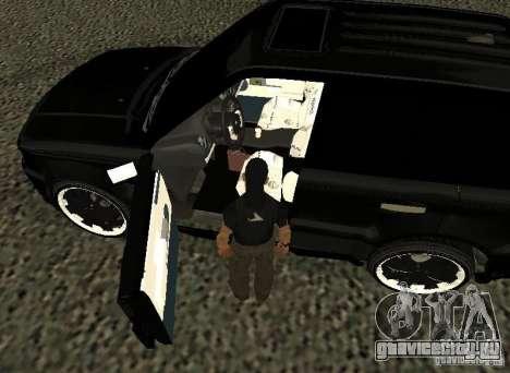 Land Rover Range Rover Sport Hamann для GTA San Andreas вид сзади