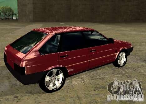 Ваз 2109 chrome для GTA San Andreas вид слева