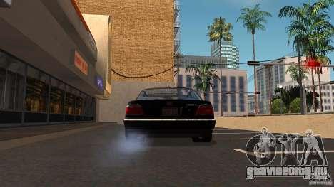 BMW E38 750LI для GTA San Andreas вид изнутри