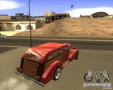 Custom Woody Hot Rod для GTA San Andreas вид слева