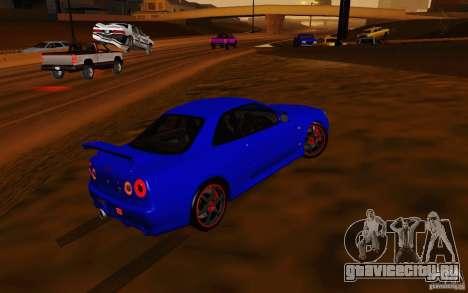 Nissan Skyline R34 GT-R V2 для GTA San Andreas вид сбоку