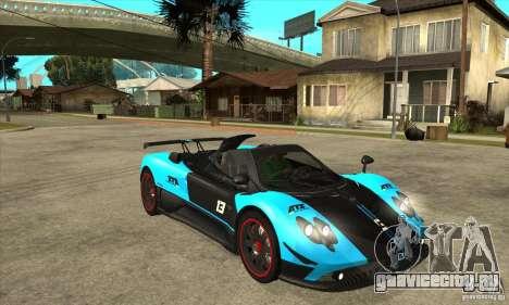 Pagani Zonda Cinque для GTA San Andreas вид сзади