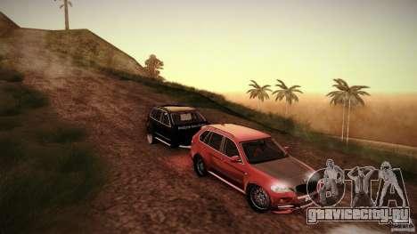 BMW X5 with Wagon BEAM Tuning для GTA San Andreas вид сзади