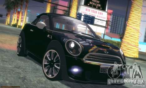 Mini Concept Coupe 2010 для GTA San Andreas вид снизу