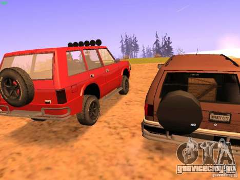 Huntley Superior для GTA San Andreas вид сзади