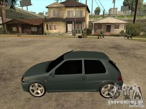 Peugeot 106 GTI Tuning для GTA San Andreas вид слева