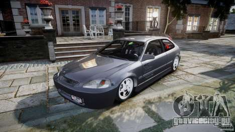 Honda Civic EK9 Tuning для GTA 4 вид сзади