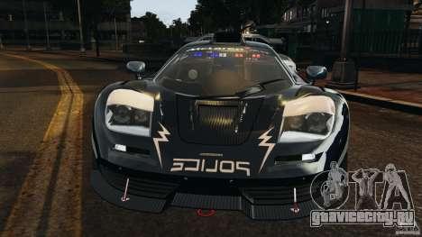 McLaren F1 ELITE Police [ELS] для GTA 4 вид сбоку
