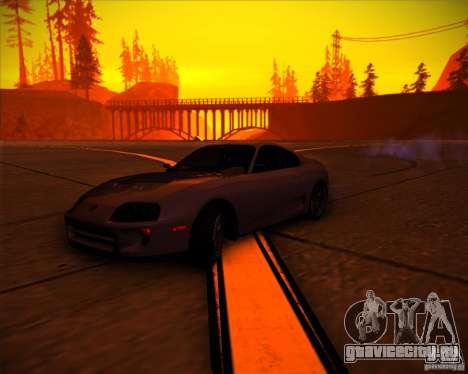 Toyota Supra SHE для GTA San Andreas салон