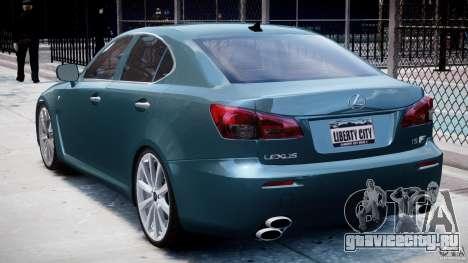 Lexus IS F для GTA 4 вид справа