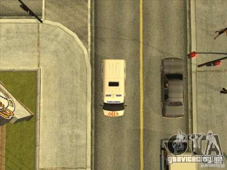ГАЗ 22172 Скорая помощь для GTA San Andreas вид сзади