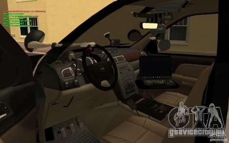 Chevrolet Tahoe SAPD для GTA San Andreas вид справа