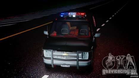 Chevrolet G20 Police Van [ELS] для GTA 4 вид сбоку