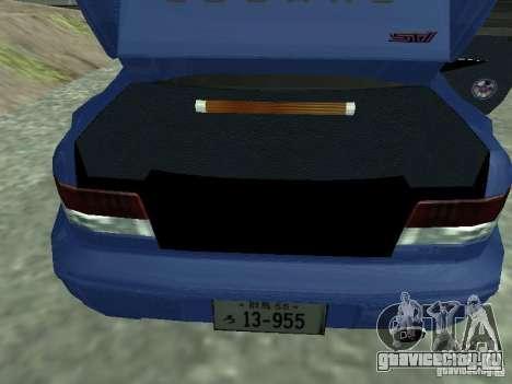 Subaru Impreza 22B STI для GTA San Andreas вид сзади