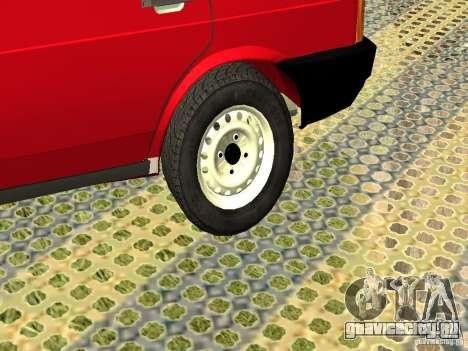 ВАЗ 2109 v2 для GTA San Andreas вид сзади