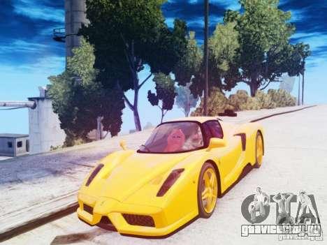 Ferrari Enzo 2002 для GTA 4 вид изнутри