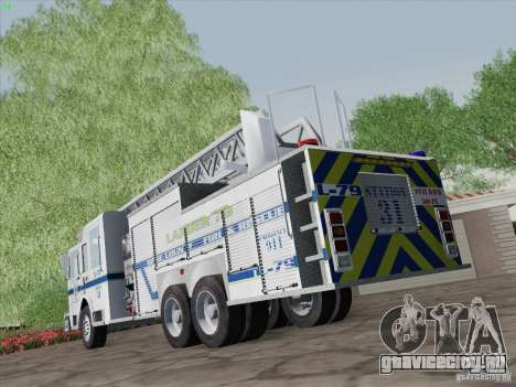 Pierce Puc Aerials. Bone County Fire & Ladder 79 для GTA San Andreas вид сбоку