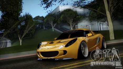 Lotus Exige Track Car для GTA San Andreas вид изнутри