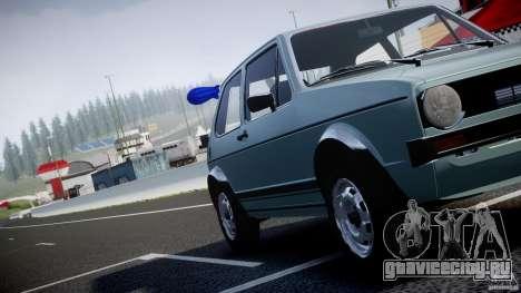 Volkswagen Golf Mk1 для GTA 4 двигатель