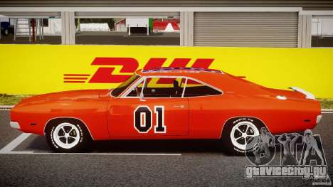 Dodge Charger General Lee 1969 для GTA 4 вид изнутри