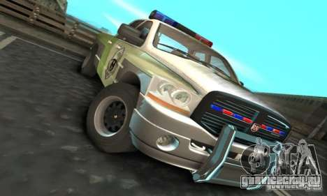 Dodge Ram 1500 POLICE 2008 для GTA San Andreas вид слева