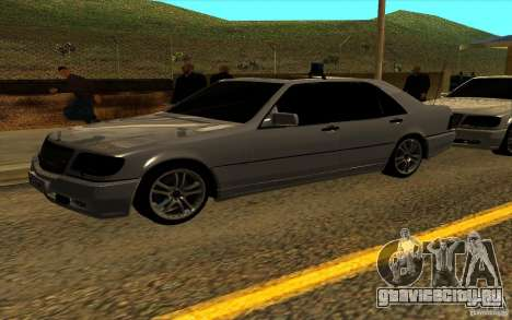Mercedes-Benz S600L 1998 для GTA San Andreas вид сверху